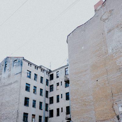 Häuserwand in Riga