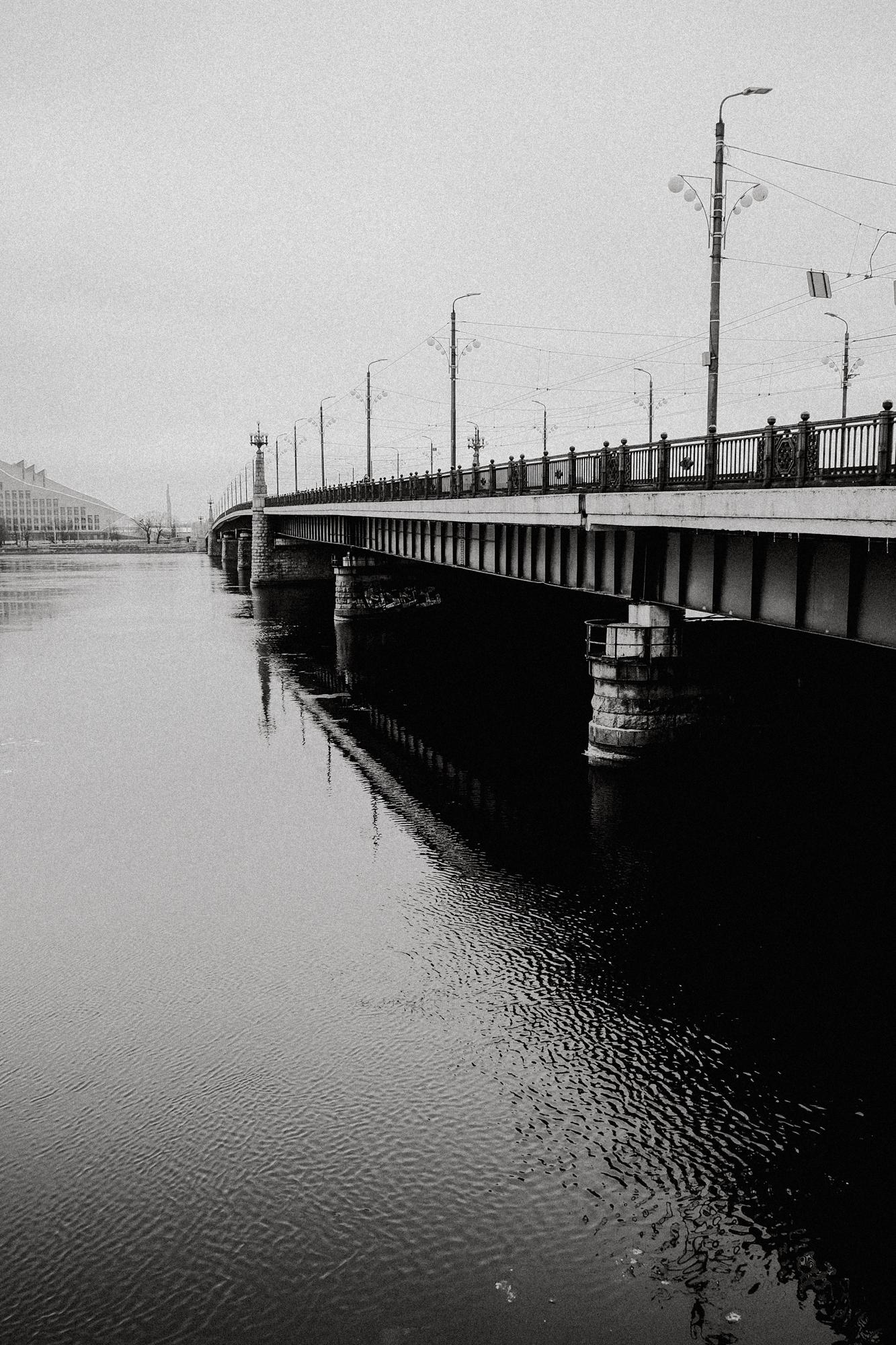 Eine der ältesten Brücken Rigas