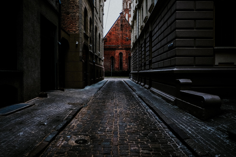 Winter in den Straßen Rigas