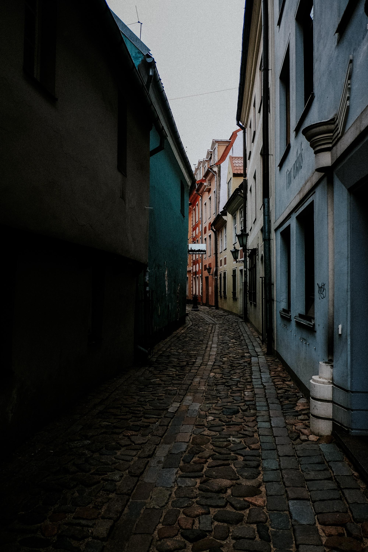 Enge Gasse in der Altstadt von Riga